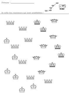 Trek een lijn naar dezelfde kroontjes / relie-les-couronnes Kings Day, Holland, Preschool, Recherche Google, School, Wizards, Castles, Nursery School, Happy Year