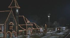 picture of train station in Niles, Michigan -this station was used in the movie Prancer