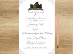 Downloadable Downton Abbey viewing party by FetchingFiction