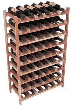 54 Bottle Stackable Wine Storage Rack Kit in Pine.- 54 Bottle Stackable Wine Storage Rack Kit in Pine. 13 Stains to Choose From! Wine Racks America, Wine Rack Storage, Wine Bottle Rack, Bottle Labels, Wine Cellar Racks, Wine Bottles, Wine Decanter, Wine Fridge, Wine Refrigerator