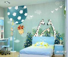 Safari themed kids room in teal!