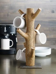 Cheyenne Mug Tree Coffee Holder Jewelry Organizer Kitchen