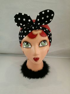 Check out this item in my Etsy shop https://www.etsy.com/listing/241353495/retro-polka-dot-dolly-bow-headband-pinup