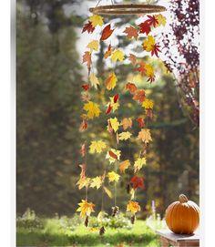 Wind Fall - This mobile mimics fluttering foliage, minus the raking.