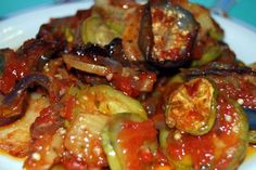 beu-dukan-diaita-mpriam Kung Pao Chicken, Ratatouille, Sprouts, Favorite Recipes, Stuffed Peppers, Meat, Vegetables, Ethnic Recipes, Food