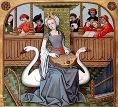 Allegory of Music, 1496-98    Frpm the manuscript of 'Echecs amoureux'  link  Indsendt af Aputsiaq kl.15.06 07:41