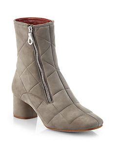 Marc Jacobs Quilted Suede Ankle-Boots
