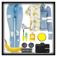 """""""Banana's for T-shirts"""" by emotionalapple on Polyvore featuring Givenchy, Various Projects, Maybelline, Chanel, Suva Beauty, The Row and Polaroid"""