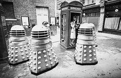 Dalek attack in St Martin's Square, London 1960's
