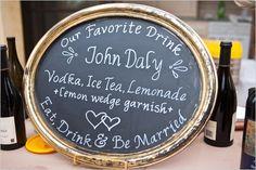 signature wedding cocktail