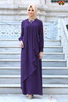 Neva Style - Purple Hijab Evening Dress 52547MOR - Neva-style.com NEVA STYLE - PURPLE HIJAB EVENING DRESS 52547MOR<br> Hijab Gown, Hijab Evening Dress, Evening Dresses, Big Size Dress, The Dress, Cute Dresses, Girls Dresses, Big Size Fashion, Moslem Fashion