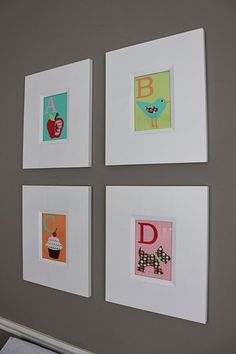 great kid's room art...and look closely....C is for Cupcake! YES!