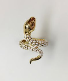 Take a look at this Crystal & Gold Snake Ring by Amabel Designs on #zulily today! $19 !!