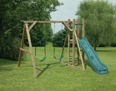 small swing sets for backyard - minus the slide