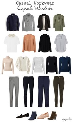 A Step Above Casual Workwear Capsule Wardrobe Office dress codes have gotten more and more relaxed. Especially here in the Bay Area, many offices are ditching official dress codes allowing employe. Capsule Wardrobe Work, Capsule Outfits, Fashion Capsule, Mode Outfits, Office Wardrobe, Work Wardrobe Essentials, Wardrobe Closet, Wardrobe Ideas, Minimalist Wardrobe Essentials
