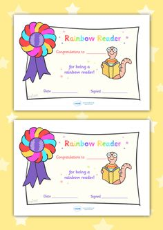 Twinkl Resources >> Editable Rainbow Reader Book Certificate  >> Classroom printables for Pre-School, Kindergarten, Elementary School and beyond! Certificates, Reading, Awards, Literacy