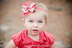 Cherries Hair Bow and Lace Headband by Sammy Banany's by iguania03, $7.99
