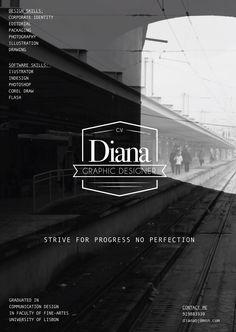 Self promotion Design poster  @Diana Botelho