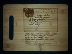 Custom engraved cutting board Cindy from 3DCarving on Etsy