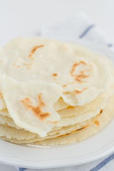 Tortillas are so easy to make! You only need 3 ingredients, a bowl, a spoon, your hands and a frying pan. This recipe is vegan, gluten, dairy and soy free.