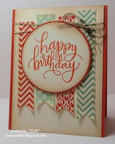 Banner Birthday by basement stamper - Cards and Paper Crafts at Splitcoaststampers