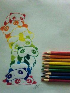 rainbow panda <3
