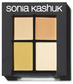 LOVE this product! It won Allure's Best of Beauty Award back in 2008, and it continues to fly off the shelves 5 years later! The palette comes with 2 shades of concealers, a redness correcter (which is amazzzing!), and a translucent powder. At $10.49 a pop, you are getting some serious bang for your buck! Available in light and medium shade palettes.