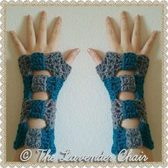 Valerie's Cinched Bow Fingerless Gloves by TheLavenderChair