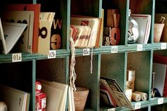 shoe cubbies = mail slot style organizing