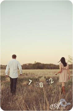 Será genial poder hacer una foto parecida para recordar la fecha o inclusive para la invitación.