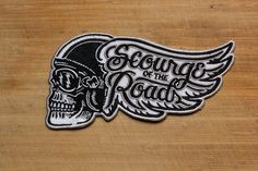 Scourge of the Roads 5.5 Embroidered Patch by strawcastle on Etsy