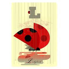 L for Ladybird Print