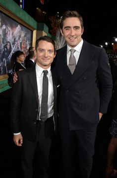 Elijah Wood and Lee Pace,He really is a hobbit next to Lee Lee Pace Thranduil, Elven Costume, You Shall Not Pass, Best Pictures Ever, Elijah Wood, Middle Earth, Benedict Cumberbatch, American Actors, Lotr