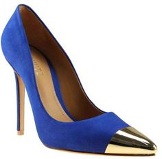Brazilia's Boutique - Royal Blue With Gold Tip Heels