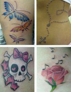 Girlie tattoos