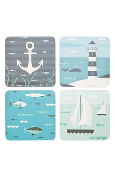 Magpie 'Ahoy' Coasters (Set of 4) available at #Nordstrom