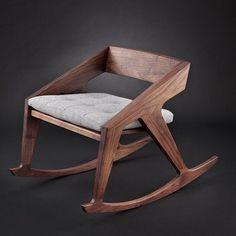 Coup de cœur : un rocking-chair design par Jory Brigham Design - Floriane… Classic Furniture, Unique Furniture, Diy Furniture, Furniture Design, Plywood Furniture, Furniture Removal, Furniture Stores, Painted Furniture, Metal Chairs