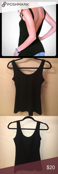 NWOT Low cut Back Tank Top Size XS Bran new without tags, low cut back tank top. Super flattering! Size XS Tops Tank Tops