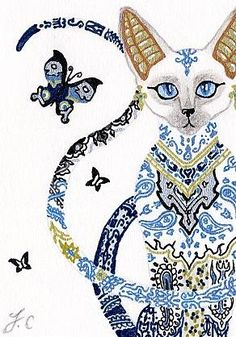 Egyptian Porcelain Cat