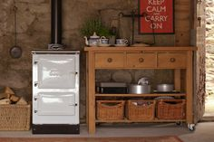 White Wood-burning Cook Stove...great for a smaller space