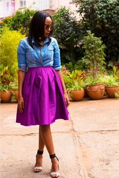 The Fashion Notebook > Purple Skirt