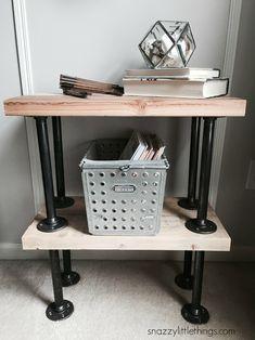 DIY Industrial Plumbers Pipe End Tables