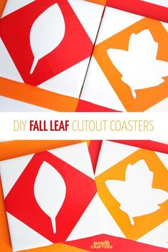 These DIY cut out fall leaf coasters are so pretty and a great autumn craft. You won't believe how easy it is to make - it' a great craft for kids, teens, and the whole family!
