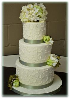 Hydrangea Wedding Cake - I have something a little different in mind, but this is similar
