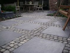 1000 images about bestratingen on pinterest tuin met and swings - Mat tegels ...