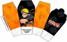 Naruto: Cajas para Imprimir Gratis. Birthday Games, 9th Birthday, Birthday Party Themes, Box Template Printable, Free Printables, Anime Chibi, Anime Naruto, Naruto Party Ideas, Naruto Birthday
