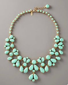 kate spade turquoise bib necklace i want so badd