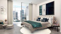 Dollar Bay for Mount Anvil in Canary Wharf,  Interior Design by Suna Interior Design, CGI by Tekuchi