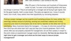 http://blog.reverbnation.com/2012/10/29/how-to-get-a-great-manager-6-tips-from-music-exec-jeff-rabhan/  How to get a great manager: 6 tips from music executive Jeff Rabhan