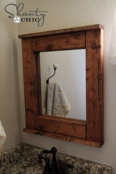 DIY  High End Low Cost Custom Styled Farmhouse Mirror ! (Easy Using Wal Mart Mirror- entire project cost is Under $14.00)